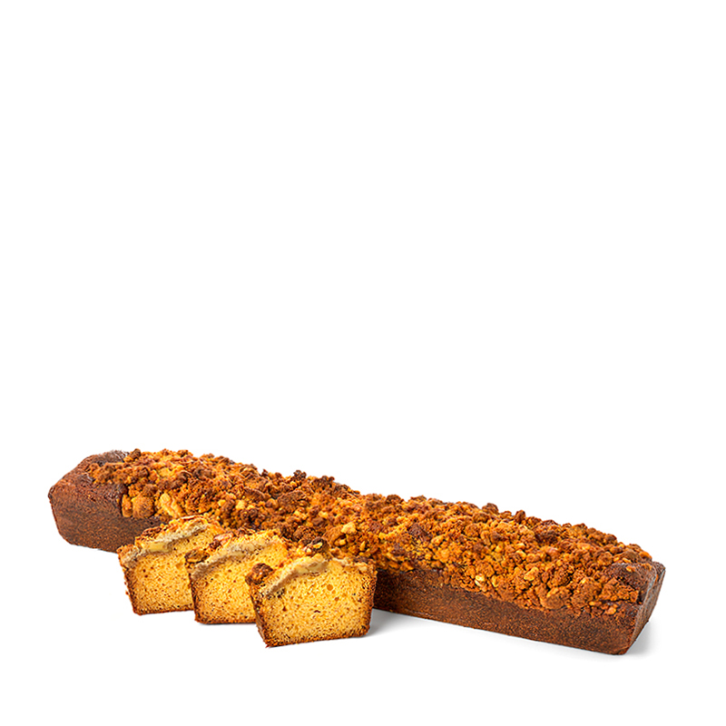 Cake crumble, de miel et de noix