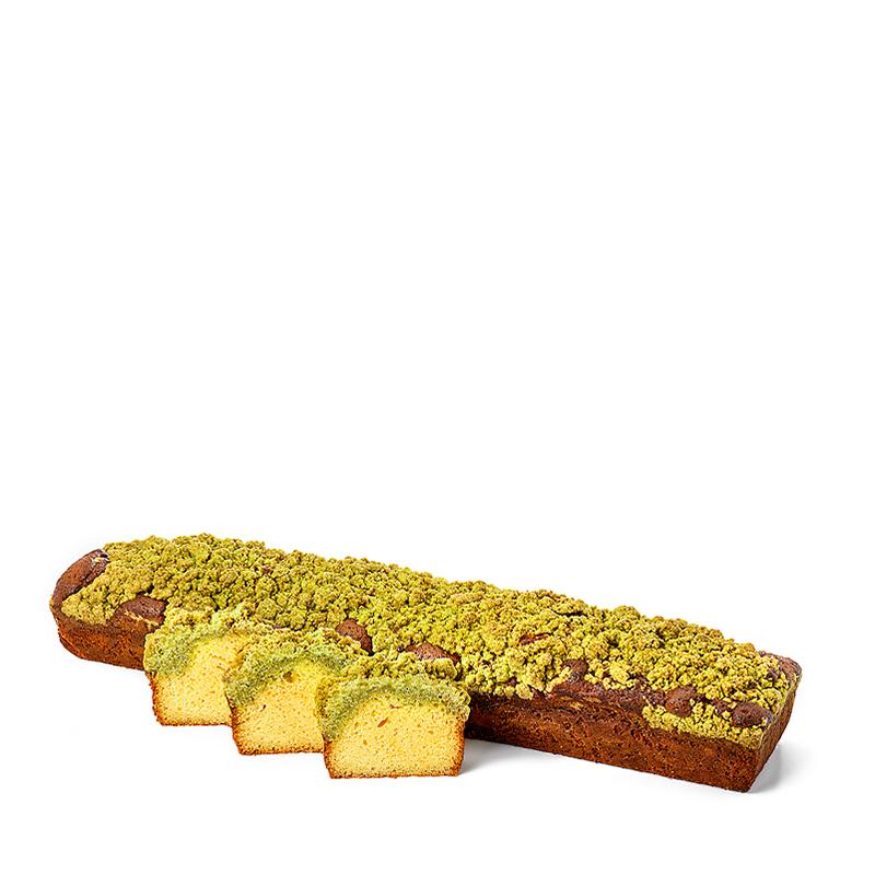 Cake crumble, yuzu-matcha