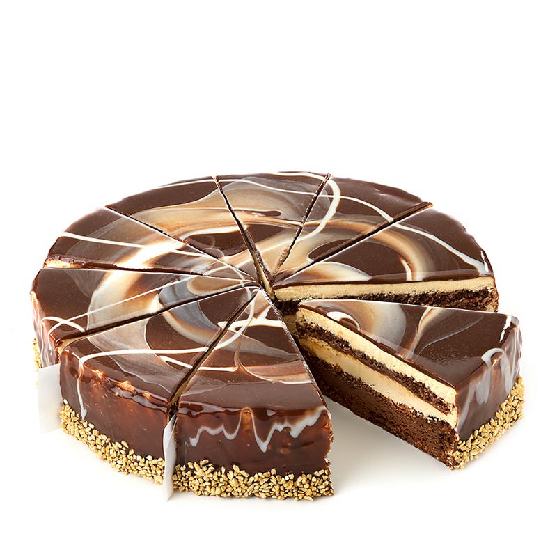 Tourte au chocolat Baileys glaçage miroir