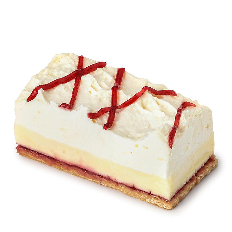 Mille-feuille à la crème vanille-framboise