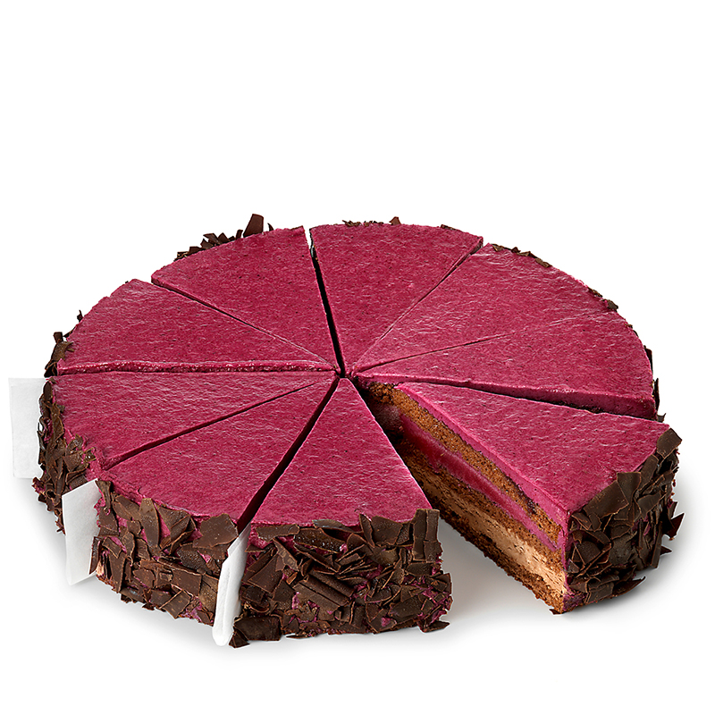 Tourte au chocolat et cassis