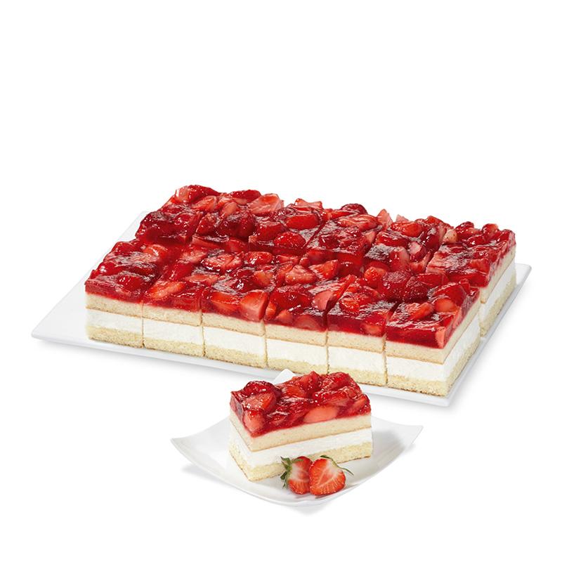 Erdbeer-Sahne-Schnitten, gluten- und lactosefrei