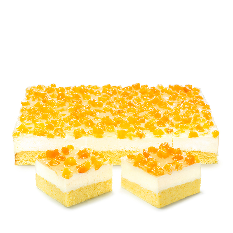 Pfirsich-Sahne-Schnitten, lactosefrei