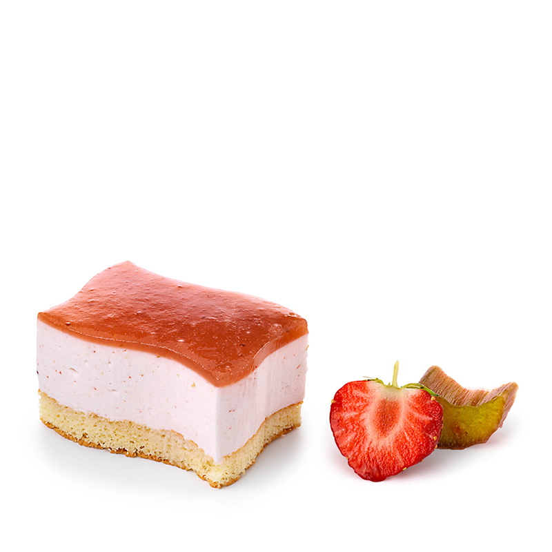 Dessert-Welle Erdbeer-Rhabarber